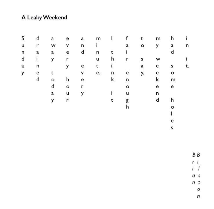 Bilston, Brian - A Leaky Weekend
